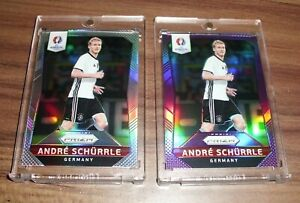 2016 Prizm EURO Andre Schurrle Germany SILVER + PURPLE Refractor /99 📈🔥INVEST