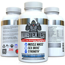 Testosterone Booster Monster Test All Natural For Men 6000mg of Power + Tribulus