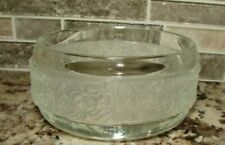 Vintage Avon Etched Design Oval Shaped Soap Dish ~ Candy Bowl