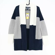NAUTICA Navy Blue V Neck Cardigan Jumper Sweater Pullover Size XS