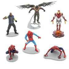 Disney Store SPIDER-MAN HOMECOMING Playset Action Figures Mini Doll Play Set