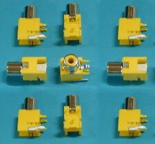 RCA Jacks, Right Angle Yellow PC Mount, Lot of 10 pieces, Fast USA Shipping