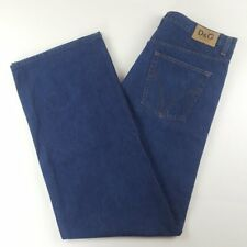 $645 Dolce & Gabbana Men's Big & Tall Dark Wash Jeans 40 x 54 Dark Button Fly