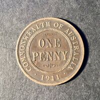 1911 Australian Predecimal Coin. KGV Penny. x 1 Coin Ungraded
