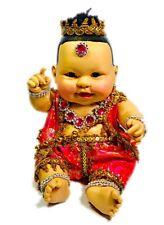 """""""Look Thep"""" Big Pink Kuman Thong Statue BE.2559 Thai Amulet Magic Talisman RARE"""