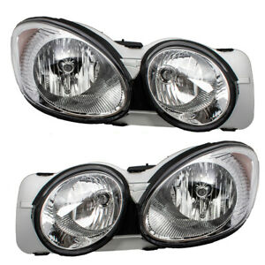 Pair Set Headlights Headlamps Lens Housing Assembly for 2005-2009 Buick LaCrosse