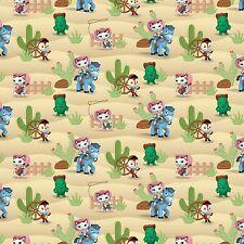 2 yards Disney Sheriff Callie Western Scene  Fabric