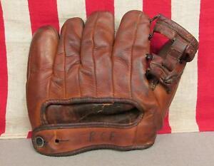 Vintage 1950s Wilson Leather Baseball Glove 635 Don Johnson Model Fielders Mitt