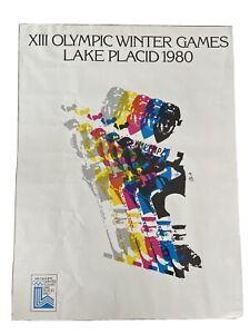 Olympic Winter Games 1980 Poster Original Hockey USA  Motif