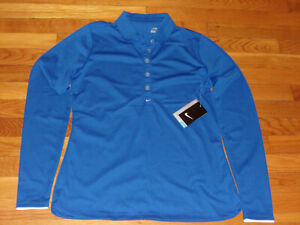 NWT NIKE DRI-FIT LONG SLEEVE GOLF POLO SHIRT WOMENS MEDIUM