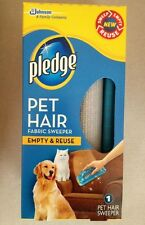 Pledge Pet Hair Fabric Sweeper Dog & Cat Roller Remover ~ Reusable ~ NEW!