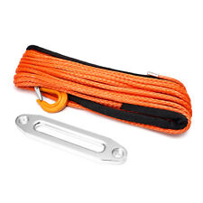 100ft 10mm Synthetic Winch Rope Hawse Hook Dyneema SK75 Self Recovery Rigging !