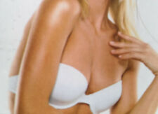 White Super Multiway Underwired Padded Bra 32C Wear lots of ways + clear straps