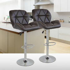 Set of 2 Swivel Bistro Bar Stools Adjustable Counter Height Kitchen Dining Chair