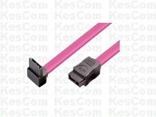 SATA Anschlu�Ÿkabel Stecker gerade auf Stecker gewinkelt  0,3m 30cm rot