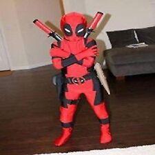 Halloween X-MAN Deadpool Costume For Kids Children Boys Full Bodysuit Jumpsuit