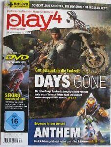 play4, Playstation-Magazin, 05.2019 / Ausgabe 145, + Heft-DVD
