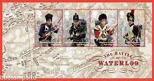 2015 Ms3734a Battle of Waterloo Minisheet - No Barcode Margin.