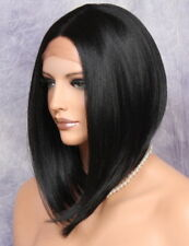 Bob Cut New Lace Front Wig Black short Heat Safe Hair piece WELY