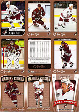 2006-07 OPC O-Pee-Chee Phoenix Coyotes Complete Team Set (26)