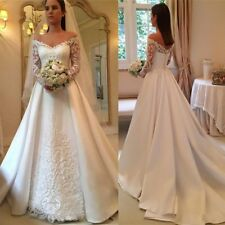 A Line Wedding Dresses V Neck Bridal Gowns Plus Size 0 2 4 6 8 10 12 14 16 18 20