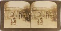 Italia Roma Animato Arco Di Constantin 1901 Foto Stereo Vintage Albumina