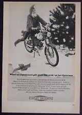 1965 Harley Davidson M-50 *Christmas Elf on Wheels* Motorcycle AD