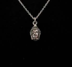 925 sterling silver Indian Hindu GOD HEAD 3D charm pendant with jump-ring