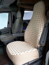 TALBOT EXPRESS MOTORHOME SEAT COVERS - ELLIE BEIGE MH43 - 2 FRONT