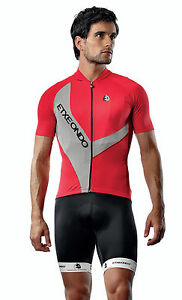 Doko Short Sleeve CYCLING Jersey in Red. Made by Etxeondo in Spain.