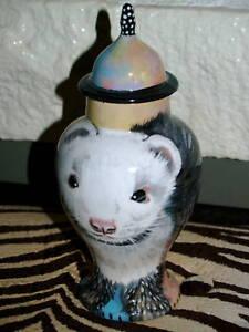 Custom X SMALL Pet portrait urn for ferret bird cats ashes funeral urn memorial