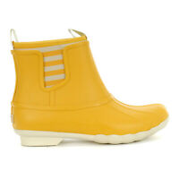 Sperry Top-Sider Women's Saltwater Chelsea Yellow Rubber Boots STS83987 NEW!