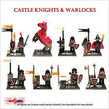 Nouveau château custom minifigures. set de 8 chiffres. chevaliers, cheval. plus disponible