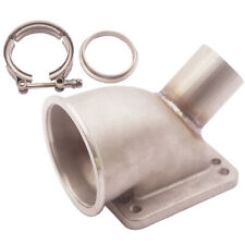 """Stainless Steel 3"""" V band 90 Deg T3/T4 Turbo Elbow Adapter Flange Cast WG Tube"""