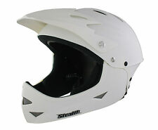 STEALTH KIDS FULL FACE MTB DOWNHILL DIRT BIKE BMX CRASH HELMET MATT WHITE MEDIUM