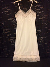 Womens Vntg Full Dress Slip Lady Lynn 34 Av Chemise Nylon Bridal Lingerie Rare