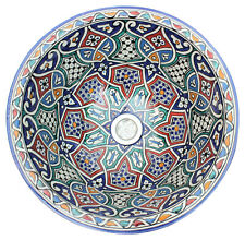 Moroccan Washbasin Wash Basin Sink Ceramic Hand Painted medium handmade 40 cm