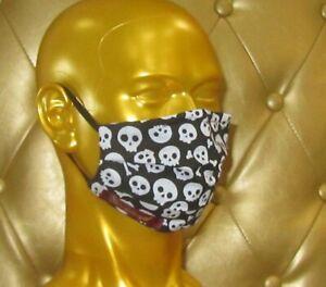 angeldog_Exclusive Alltagsmaske Stoffmaske_Totenkopf Motiv_Zeigen Sie Stil_Gr: M