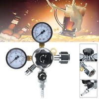 HFS Commercial CO2 Regulator Beer Brewing Kegerator Dual Gauge Valve Shutoff