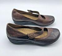 Hush Puppies Women Brown Mary Jane Shoe Size 8.5M EUR 40N Pre Owned
