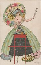 Illustratori - Femme au Miroir, Illustratore Brunelleschi, non viaggiata.