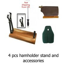 4PC CHRISTMAS SALE serrano iberian HAM holder stand + cover + sharpener RRP 69.9