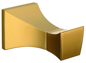 gold clour bathroom brass clothes hook robe hook square