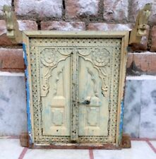 Old Vintage Wooden Hand Carved Window Door Frame