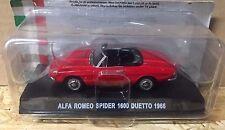 "DIE CAST "" ALFA ROMEO SPIDER 1600 DUETTO - 1966 "" AUTO ITALIANE COLLECTION TEST"
