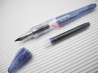 Pilot Pluminix 12cm Mini Italic Calligraphy Fountain Pen, Blue-Black Fine nib