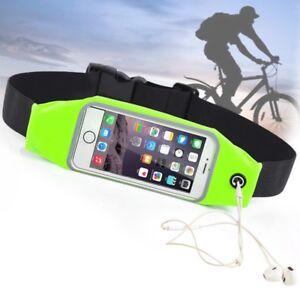 Sacoche telephone portable Sport Vert fluo sac banane tour de taille imperméable