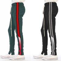 EPTM Epitome Men's Techno Side Zipper Long Drawstring Mesh Panel Track Pants