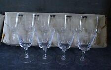 10 VERRES à Vin Blanc sur Pied en Cristal d'Arques modèle Versailles 13cm