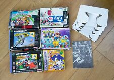N64, SNES AND GAMEBOY ADVANCE BOXES - MARIO KART, SONIC, EXCITEBIKE POKEMON
